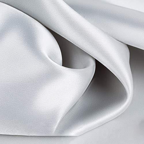 MUYUNXI Tela De Raso Forro De Tela para Vestidos De Novias Fundas Artesanías Vestidos Blusas Ropa Interior 150 Cm De Ancho Vendido por Metro(Color:Gris-Plata)