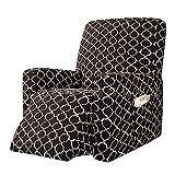 BXFUL Funda de Sillón Relax Elástica Completo Protector para Sillón Reclinable Capuchas elásticas para sillón, Elástico Funda para sillón reclinable (Café)