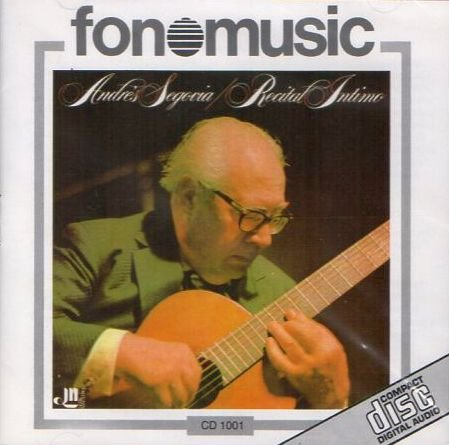 Recital intimo CD musicaandres Segovia