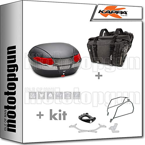 kappa maleta k56n + alforjas laterales ra316bk compatible con suzuki gsx-s 1000 2020 20