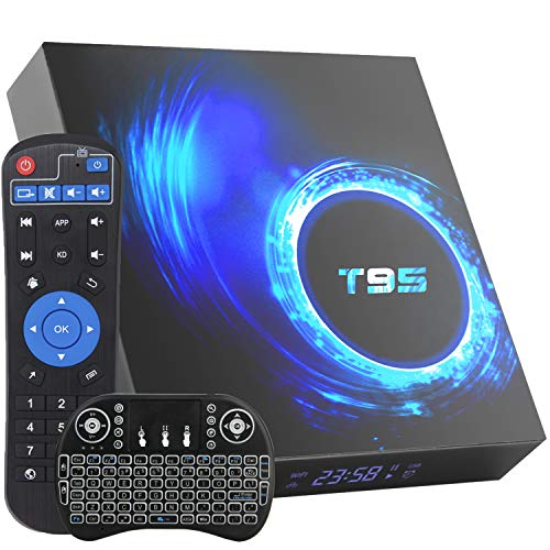 Android TV Box,Android 10.0 TV Box 4GB RAM/64GB ROM H616 Quad-Core Media Play, 2.4/5Ghz WIFI Ethernet 6K Ultra HD Smart TV BOX