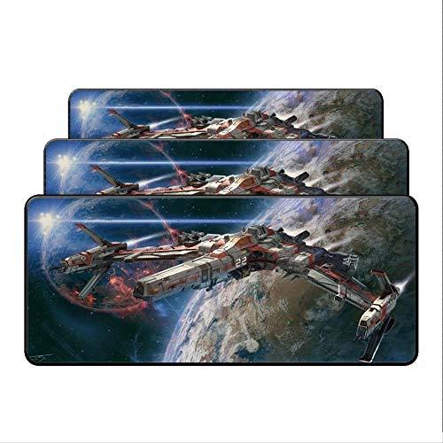 Dhsbd Nave Espacial Luna Esteras Grandes Estera De Goma Overlock Edge Gaming Mouse Pad Mat Xl Escritorio Grande Trabajo De Oficina / Juego 400X900X4Mm