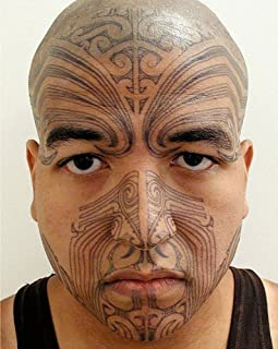 c815c5b99 Maori Warrior Moko Temporary Face Tattoo Makeup Kit - Set of 2 Complete Kits