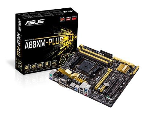 Asus A88XM-PLUS Mainboard Sockel FM2+ (micro-ATX, AMD A88X, 6x SATA II, DDR3-Speicher, VGA, 10x USB 2.0)