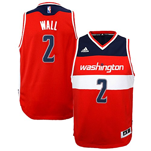 John Wall Washington Wizards #2 Red Youth NBA Swingman Road Jersey (Large 14/16)