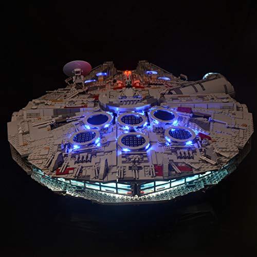 WWEI Juego de iluminación LED para 75192 Star Wars Halcón Milenario, luz LED, compatible con LEGO 75192, sin set Lego