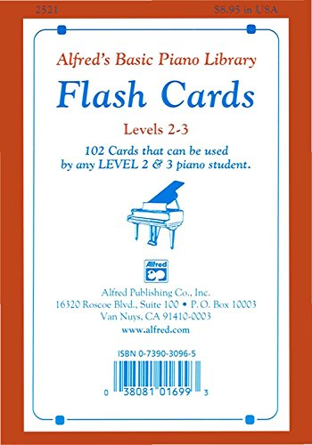 Alfred's Basic Piano Library: Flash Cards, Levels 2 and 3 (English Edition)