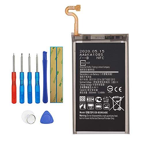 Vvsialeek EB-BG965ABE - Batería para teléfono móvil compatible con Samsung Galaxy S9+ S9 Plus SM-G965F G965F con kit de herramientas de 3000 mAh