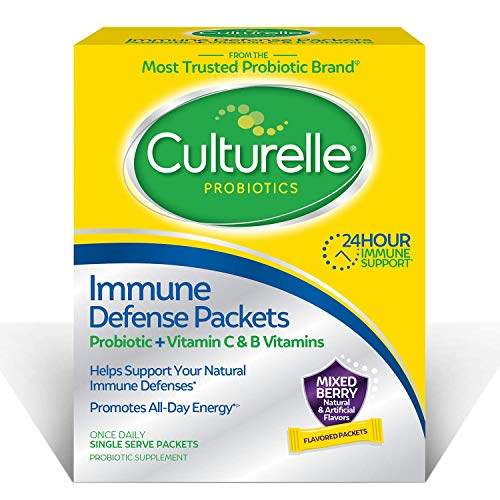 Culturelle Immune Defense Packets, Probiotic + Vitamin C and B Vitamins, 24-Hour Immune Support, 20 Single Serve Packets