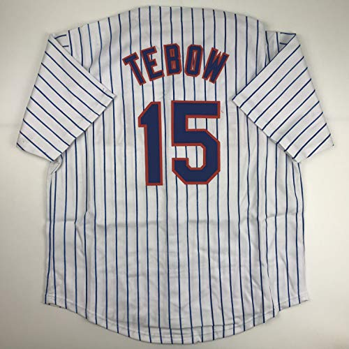 Unsigned Tim Tebow New York Pinstripe Custom Stitched Baseball Jersey Size Men
