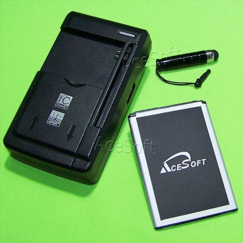 Capacity 2550mAh Li_ion Battery Universal Desktop Dock Wall Charger Stylus for T-Mobile LG Leon H345 Cellphone