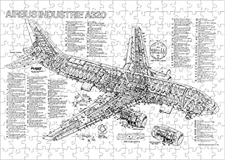 Media Storehouse 252 Piece Puzzle of Airbus A320-100 Cutaway Poster (1569799)