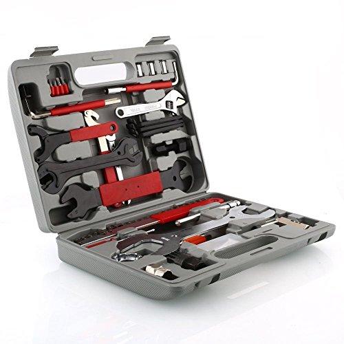 Femor Fahrrad Werkzeugkoffer 48tlg Fahrrad Werkzeug Set, Fahrradwerkzeug für Fahrrad Montagearbeiten und Reparaturen, Fahrrad Werkzeugset mit Tragekoffer und Multitool - 2