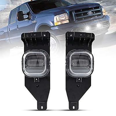 BUNKER INDUST LED Fog Lights for 2005 2006 2007 Ford F250 F350 F450 F550 SUPER DUTY, OEM Bumper Driving Fog lamp Kit