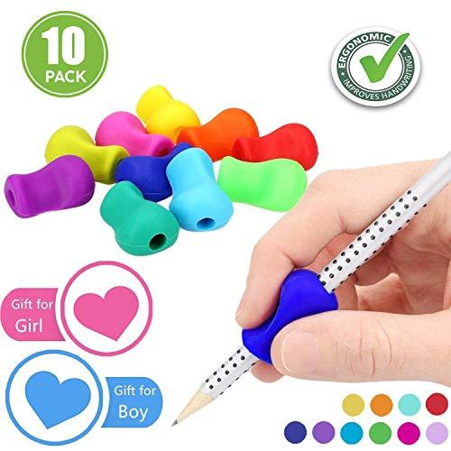 Pencil Grips,Silicone Crayon Grips (Guide doigt) pour Crayon Ergonomique Aide écriture pour...