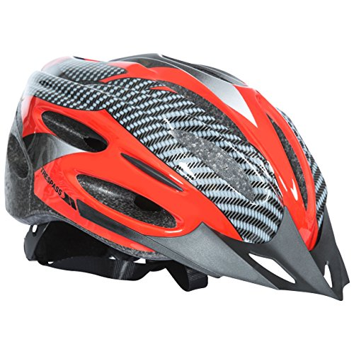 Trespass Crankster, Red, L/XL, Adjustable Cycle Safety Helmet with Ventilation, Large / X-Large, Red