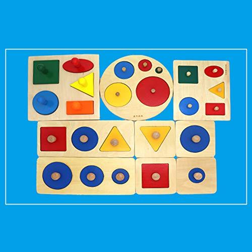 Catkoo Montessori Wood Knob Puzzle Peg...