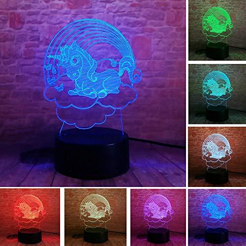 Lampada Da Illusione 3D Lampada Da Notte A Led Unicorn Anime Figure Colorate Touch Flash Lampada Da Tavolo Light Unicornio Figma Giocattoli Per Bambini Compleanno O Regali Per Le Vacanze