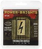 Thomastik-Infeld RP109 Electric Guitar Strings: Power-Brights 6 String Heavy Bottom Set E, B, G, D, A, E