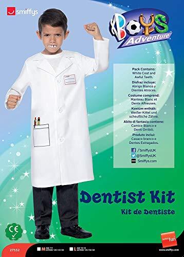 Smiffys Kit de Dentiste, Blanc, Manteau et Dents Affreuses