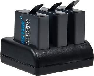 BESTON Goproバッテリー 2個/3ポートUSB充電器 セット GoPro HERO7/6/5/Black対応 充電式バッテリー GoPro ウェアラブルカメラ用バッテリー Gopro互換バッテリー バッテリーチャージャー GoPro リチウムイオンバッテリー ゴープロアクセサリー