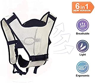 Baby Carrier Sling for Infants and Toddlers, 4-in-1 Portable Ergonomic Carrier packback Front and Back, Cool MESH for Summer (Navy Blue)