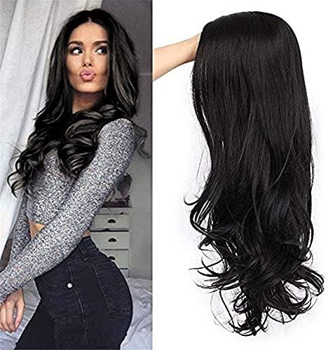 Pelucas Pelucas con estilo para las mujeres Europa y Americana Pelucas con estilo de cabello largo y rizado para las mujeres Mid-Point Mid-Point Big Wave Sintetic Headgear La mejor opción de regalo