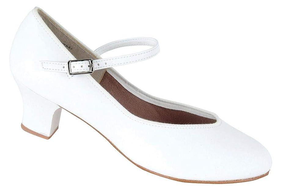 ペナルティそう蒸[Danshuz] Womensホワイト文字タップQueenダンス靴サイズ3.5?–?10