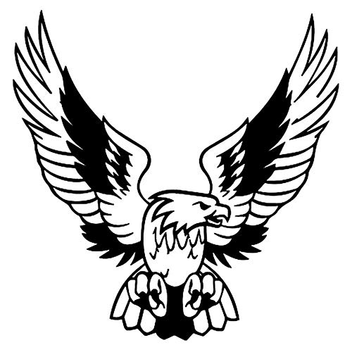 UVKLAEE - Pegatina para coche con diseño de águila en coche en 3D (15,8 x 16 cm), epoxi, negro, 2 unidades