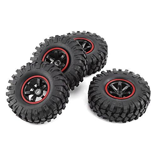 SOULONG Neumáticos de automóvil RC, 4 Partes de neumático de Goma con Cubos, neumáticos de Caucho para RC HSP 1:10 701A-7006L