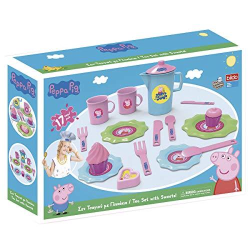Bildo 8105 Peppa Pig - Juego de té pequeño, Multicolor