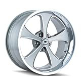 Ridler Style 645 Grey Wheel with Machined Face/Polished Lip (17x7'/5x120.65mm)
