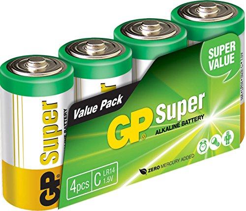 GP Battery 03014AS4 Super Alkaline C Baby 4er Pack