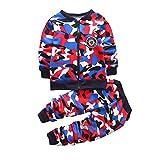 shiningbaby Ensemble de vêtements bébé garçon Camouflage À Manches Longues Sweat-Shirt décontracté Manteau Hauts et Pantalons Tenues Costumes de Sport pour Les Enfants de 2 à 7 Ans