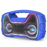 Portable Bluetooth Speaker, AOMAIS Waterproof Outdoor Speaker 50W(70W Peak) Stereo Sound, 30H Playtime Wireless Speakers with Deep Bass and 10000mAh Power Bank, TWS, FM Radio for Party