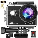 ACTMAN 4K Action Camera 16MP Underwater Waterproof Camera...