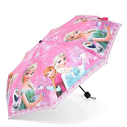 Umbrella Disney Cartoon Children's Umbrella Frozen elsa Anna Sofia Princess Umbrella New Girls Student Kids Cute UV Protection Umbrella