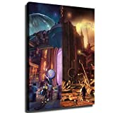 YOSON Final Fantasy X Canvas Art Poster and Wall Art Picture Print Modern Family Bedroom Decor Posters -v18 (with Framed,12X16 INCH)