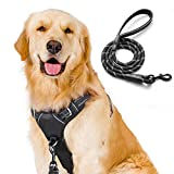 rabbitgoo dog harness set, no pull dog vest harness with leash, Front Clip