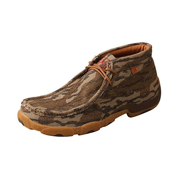 Twisted X Men's Eco TWX Chukka Driving Moc Slip-on Shoes, Mossy Oak Bottomland, 12 M (MDM0082)