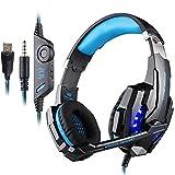 KOTION EACH PS4 Gaming Headset, PC Headset Auch fr Xbox One & Laptop, 3.5mm Noise Cancelling Gaming Kopfhrer mit Mikrofon, Surround Sound System G9000 Blau (Blau)