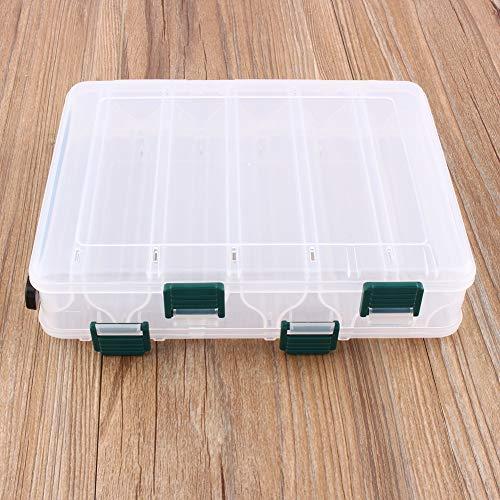 Tackle box - 12 Compartments Tackle Plastikaufbewahrungsbehälter Fischen Kasten Köder Box Gerät Beidseitiger Aufbewahrungskoffer tackle box beidseitig