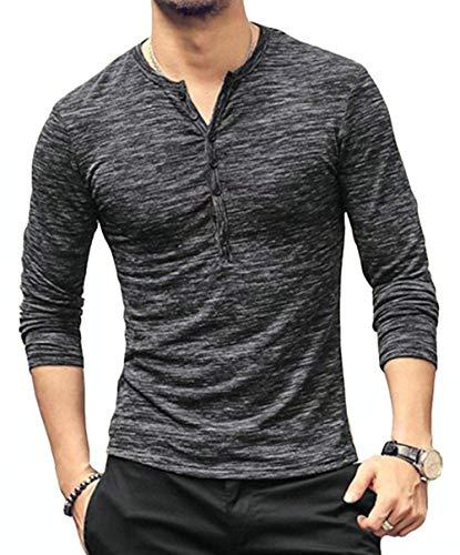 Mens-Casual-Slim-Fit-Basic-Henley-Long-Sleeve-Fashion-T-Shirt-Tee