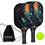 Pickleball Paddles, Pickleball Paddle, Pickleball Paddle Set of 2 Picklelball Rackets, Mystery Power
