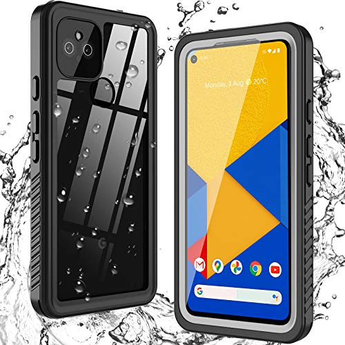 ANTSHARE for Google Pixel 4a 5G Case Waterproof, Built in Screen Protector 360° Full Body Heavy Duty Protective Shockproof IP68 Underwater Case for Google Pixel 4a 5G (6.2inch) -  P4a