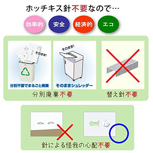 No needle stapler Kokuyo <Ha Linux></noscript> (desktop 12 sheets) SLN-MS112D (japan import) - 3