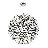 KGDC Lámpara de Techo Lámpara de araña de Restaurante Minimalista Moderna Lámpara de araña esférica de Diente de león Creativo Lámpara de araña esférica Lámparas Colgantes (tamaño : 60cm)