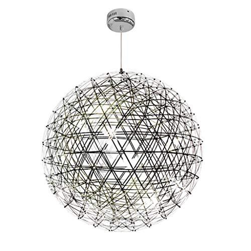 HNHYNSY Chandelier Lámpara de araña de Restaurante Minimalista Moderna Lámpara de araña esférica de Diente de león Creativo Lámpara de araña esférica Lámpara de Techo (Size : 65cm)