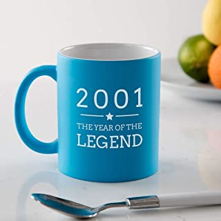 Engraved Blue Ceramic Mug -