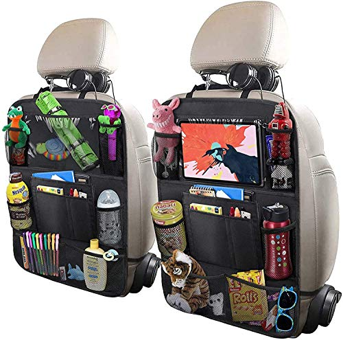 UCART Car Backseat Organizer with 10' Table Holder, 9 Storage Pockets Seat Back Protectors Kick Mats...